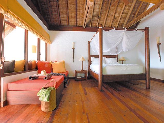 Bedroom of Soneva Fushi villa